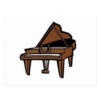 Grand Piano Graphic Brown Image Postcard