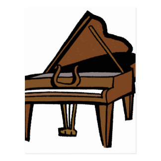 Grand Piano Graphic Brown Image Postcards
