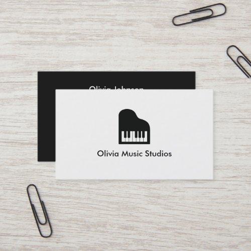 Grand Piano Icon Music Teacher Business Card