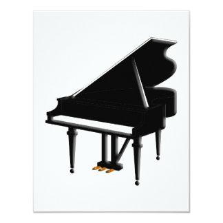 """Grand Piano Invitation 4.25"""" X 5.5"""" Invitation Card"""