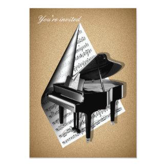 Grand piano Invitation Cards 13 Cm X 18 Cm Invitation Card