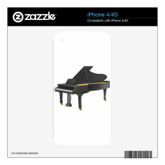 Grand Piano iPhone 4 Decals