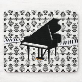 Grand Piano Keyboard Damask Mouse Pad