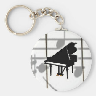 Grand Piano Keyboard & Notes Keychain