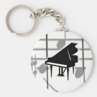 Grand Piano Keyboard & Notes Keychain