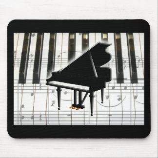 Grand Piano Keyboard & Notes Mouse Pad