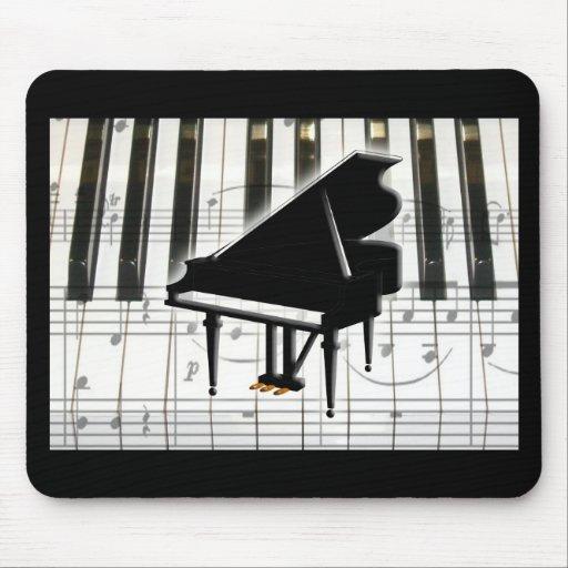 Grand Piano Keyboard & Notes Mousepad