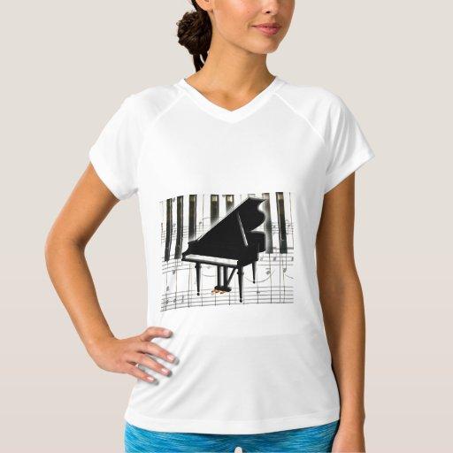 Grand Piano Keyboard & Notes T-Shirt