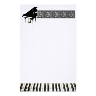 Grand Piano Keyboard Personalized Stationery