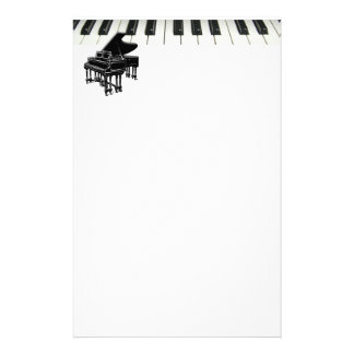 Grand Piano Keyboard Stationery Paper