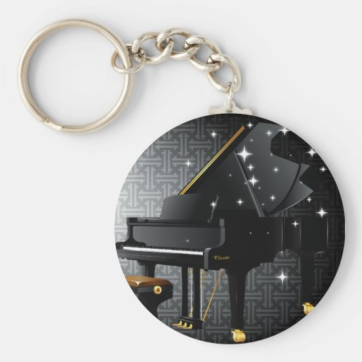 Grand Piano Key Chains