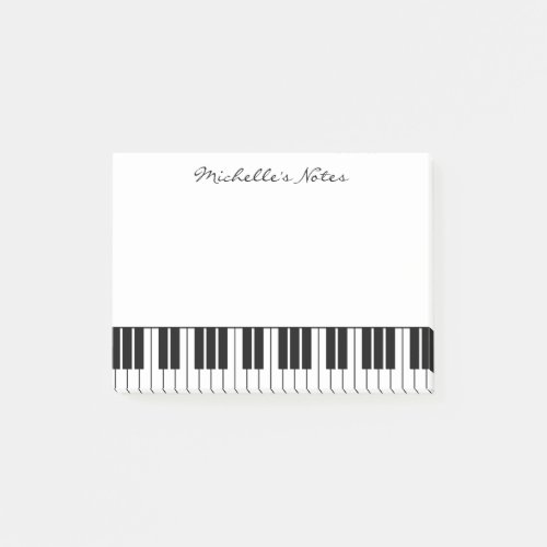 Grand piano keys post it notes for pianist