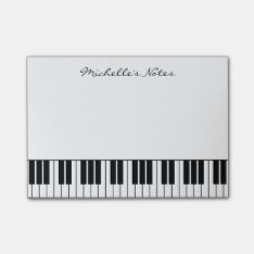 Grand Piano Keys Post It Notes For Pianist at Zazzle