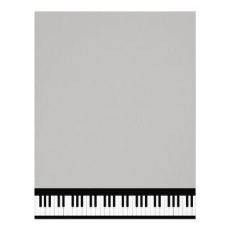 Grand Piano Personalized Letterhead