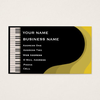 Grand Piano - Music Business Card