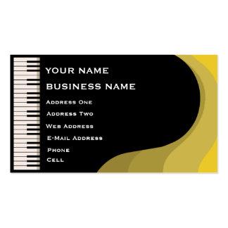 Grand Piano - Music Business Card