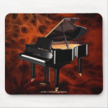 Grand Piano Music-lover's Red Fractal Design Mousepads