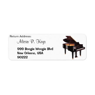 GRAND PIANO Music Lovers Return Address Labels