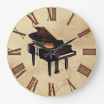 Grand Piano Music-Lover's Wall Clock