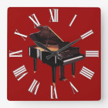 Grand Piano Music Lover's Wall Clock