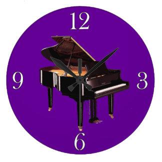 Grand Piano Music Lover's Wall Clock
