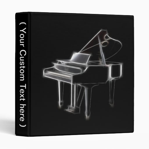 Grand Piano Musical Classical Instrument Binder