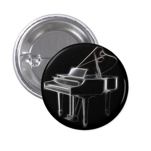 Grand Piano Musical Classical Instrument Button