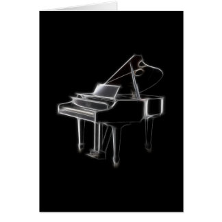 Grand Piano Musical Classical Instrument Card