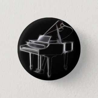 Grand Piano Musical Classical Instrument Pinback Button