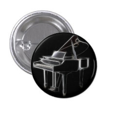 Grand Piano Musical Classical Instrument Pinback Button at Zazzle