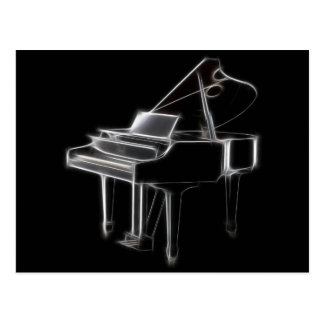 Grand Piano Musical Classical Instrument Postcards