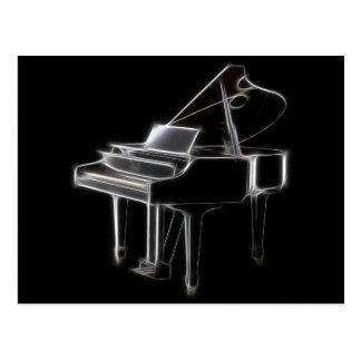 Grand Piano Musical Classical Instrument Postcard