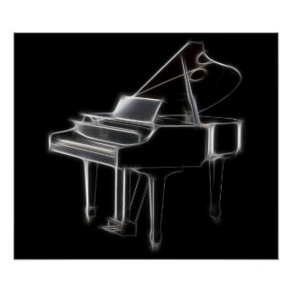 Grand Piano Musical Classical Instrument Poster