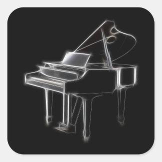 Grand Piano Musical Classical Instrument Square Sticker