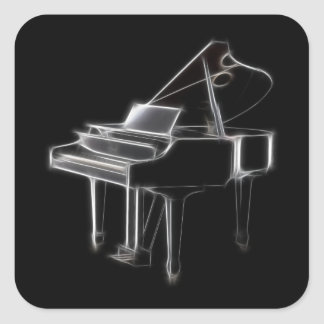 Grand Piano Musical Classical Instrument Stickers