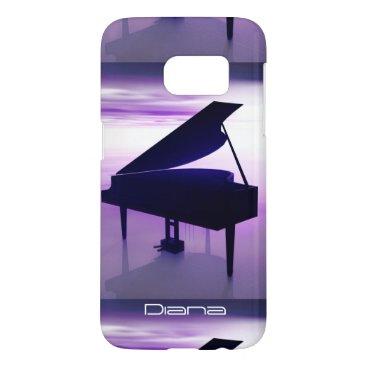 Beach Themed Grand Piano on the Beach Galaxy S7 Case
