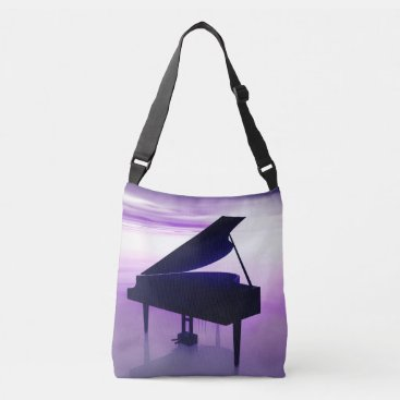 Beach Themed Grand Piano on the Beach Music Tote Bag
