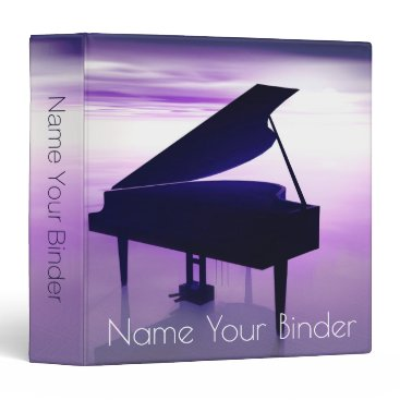Beach Themed Grand Piano On the Beach Surrealistic Music Binder