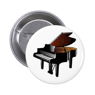 Grand Piano Pinback Button