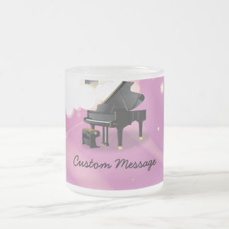 Grand Piano - Pink Frost 10 Oz Frosted Glass Coffee Mug