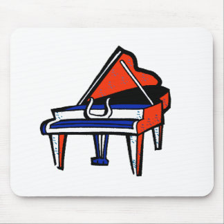 Grand Piano Red White Blue Graphic Image Mousepads