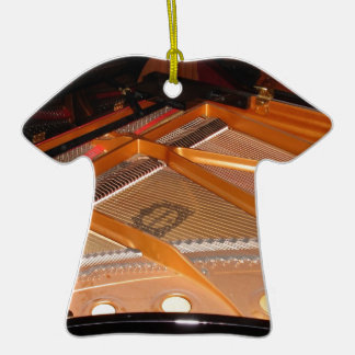 Grand Piano Soundboard Double-Sided T-Shirt Ceramic Christmas Ornament