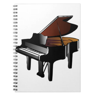 Grand Piano Spiral Notebook