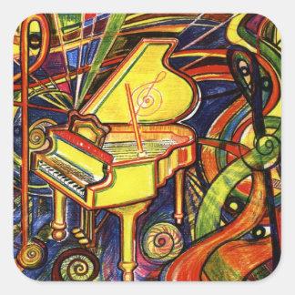 Grand Piano Square Sticker