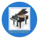 Grand Piano Sticker sticker