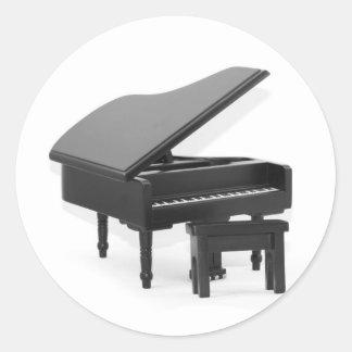 Grand piano sticker