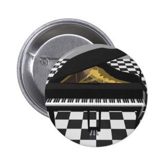 Grand Piano & Tile Floor: 3D Model: 2 Inch Round Button