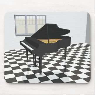 Grand Piano & Tile Floor: 3D Model: Mouse Pad
