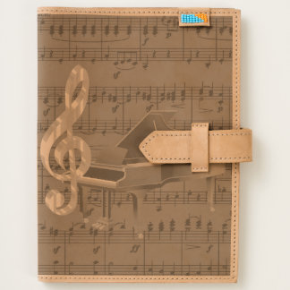 Grand Piano Treble Clef Sheet Music Journal