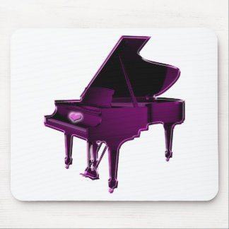 Grand Piano With Heart Mouse Pad